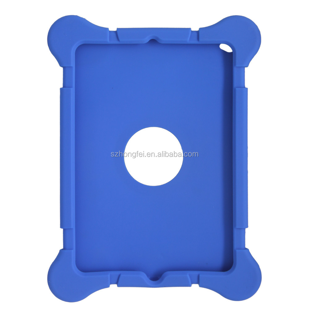 OEM design case For iPad mini wholesale top quality soft Silicone case with stand from JUNQI China supplier