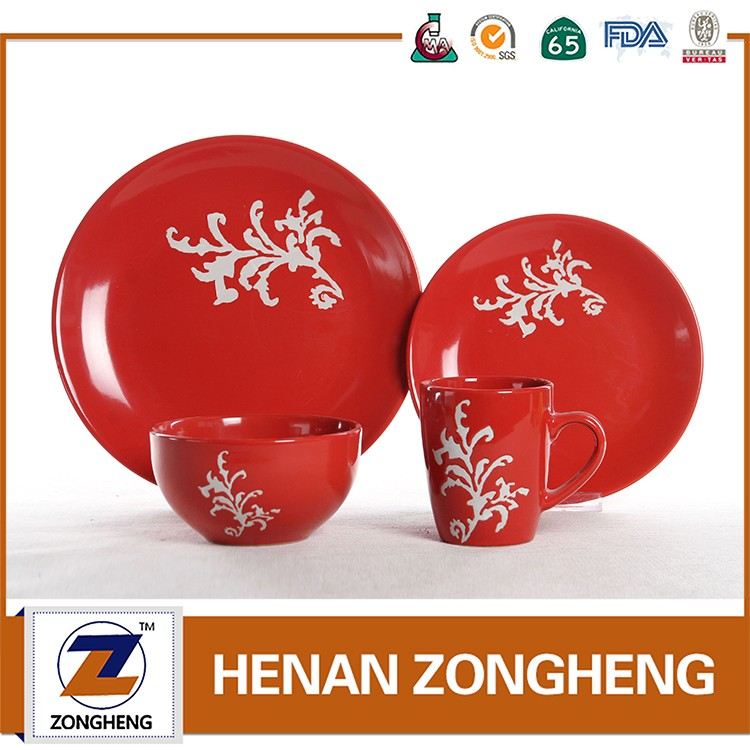 Newest Design Wholesale Screen Printing Dinner Set MADE IN CHINA