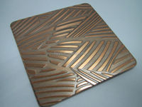 bronze color stainless steel sheet etching finish