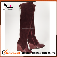 Italy style genuine leather over the knee women long boots