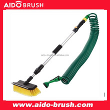10'' Telescopic car water flow brush set with blade and hose