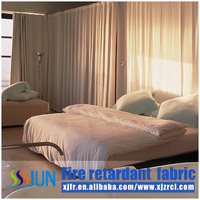 Abundant Permanent Flame Retardant Living Room and Hotel Curtain E001