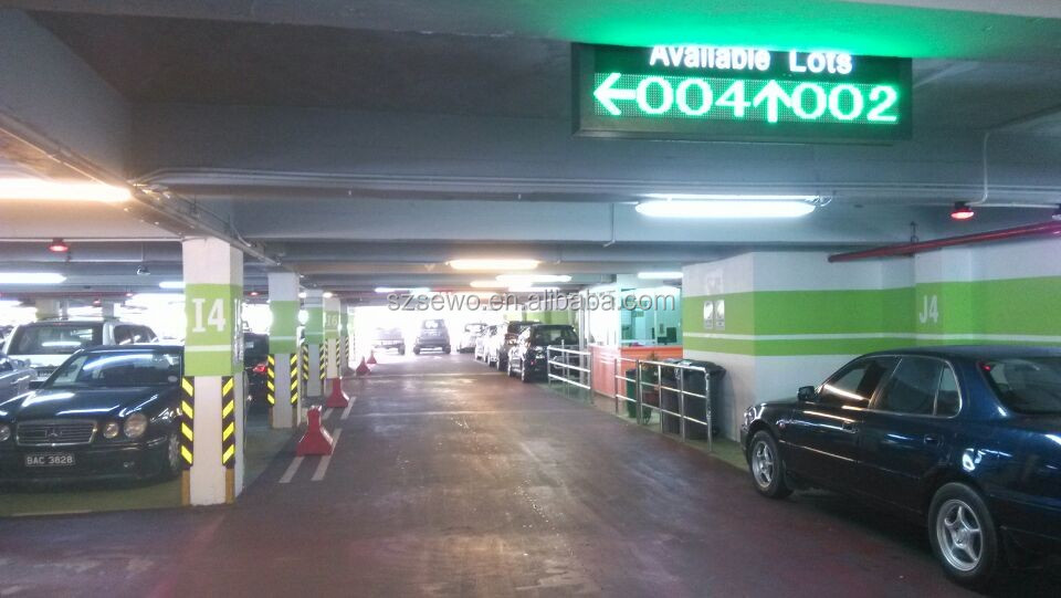 Carpark Guidance Parking System,Outdoor LED display shows total parking space available, Parking Status Indicator