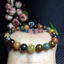 Wholesale natural crystal 7-8mm bead four seasons flower phantom bracelet