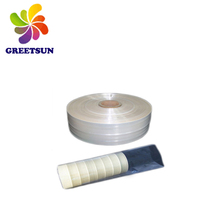 Bottle packing pvc/petshrink film bluish pvc shrink blown for printing labels