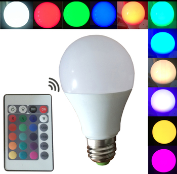 New 5w e27 A60 rgbw color changing smart led light bulb