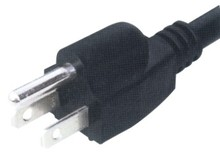 NEMA5-15P power cord with 3 pin USA UL approval plug