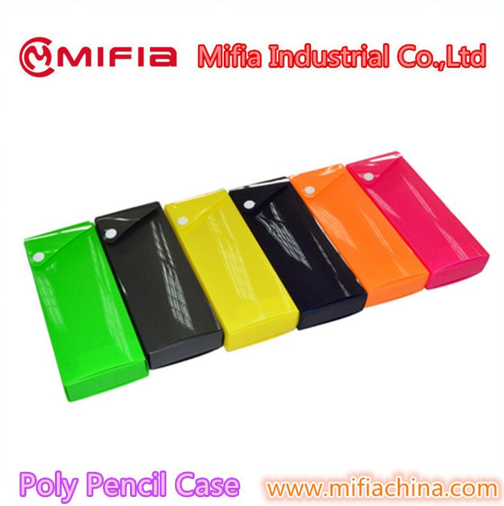wholesale Good price pp plastic school stationery pencil box /pen cases /pencil packaging box with button lock