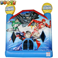 EN14960 inflatable kids bouncy house for party, inflatable bouncer slide for justice league