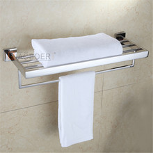 Bathroom fittings modern stainless steel metal commercial towel rack
