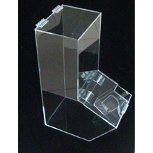 Plexiglass Lucite Stackable Clear Acrylic Candy Holder Display Bin Container Box with 2 Compartments