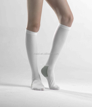 MAIZI Anti Embolism Knee Length Stockings wih FDA ISO13485 ISO9001
