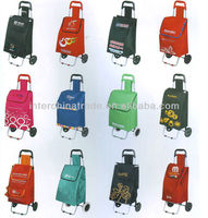 Trolley foldable shopping bag