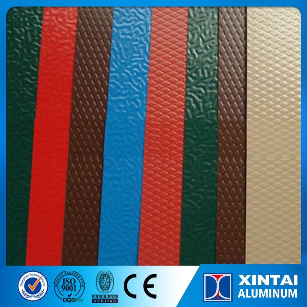 Nigeria Roofing Coloured painting or coated Stucco Embossed Aluminium Coil sheet