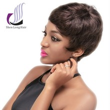 Hot selling natural looking short 100 human hair african american afro wigs