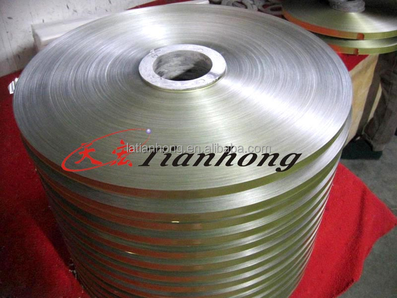 Aluminum foil polyester coated for cable shielding