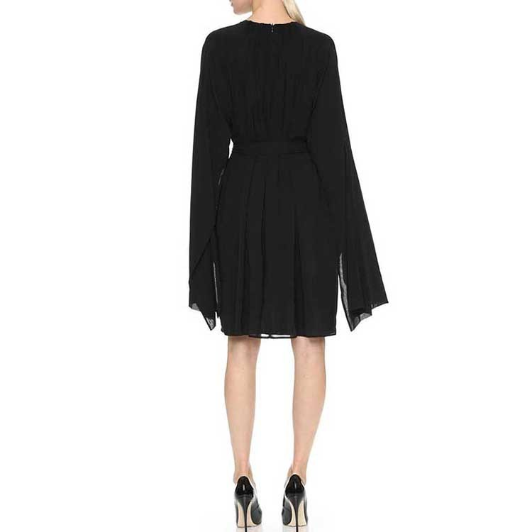 Ladies Fashion Dresses Black Chiffon dress women casual
