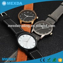 High quality fashion japan movt leather material vogue chronograph watch