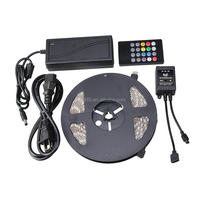 Waterproof RGB 5050 SMD LED Strip Light+Remote Control 20key+power supply 5M/Reel 300leds 5M IP65, retail packaging