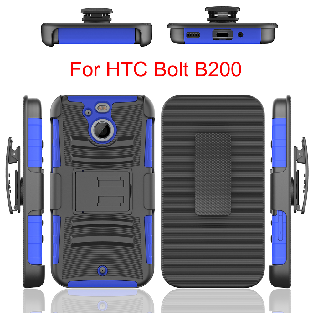 3 in 1 hot sale US market Shockproof Pc+Tpu Hard Kickstand Back Case For HTC Bolt B200
