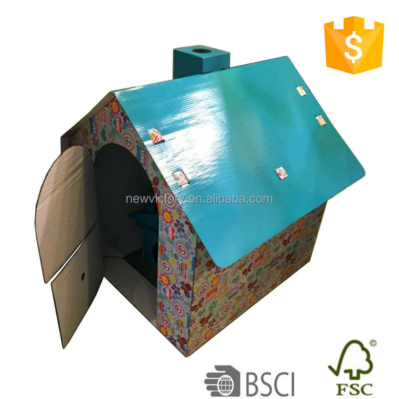 Easy folding and putting bamboo dog house