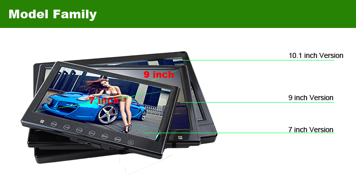 2014 newest 7 inch touch button mini 7 inch lcd monitor input for car