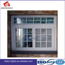 Double glazing PVC sliding window with grill and mosquito net