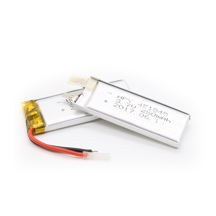 Rechargeable OEM 451843 3.7v 250mah lithium polymer battery for bluetooth headset