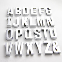 High quality fashion accessories zinc alloy silver alphabets slide letter charms