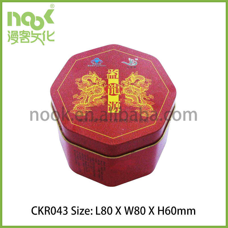 Irregular Tinplate Box/Octagonal Tin Packing Box/Octagon Food Tinplare Can
