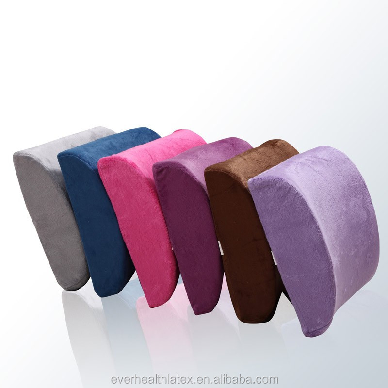 Excellent quality natural latex lumbar support pillow antibacterial and anti-mite Back Cushion