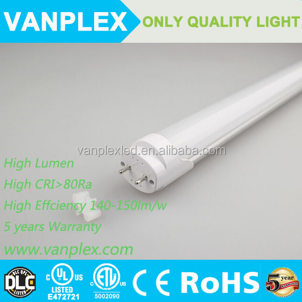 12v 24 inch outdoor ul dlc 18w high lumen 4ft t8 led tube light