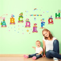 Decorative removable letters A B C D E F G wall stickers kids room