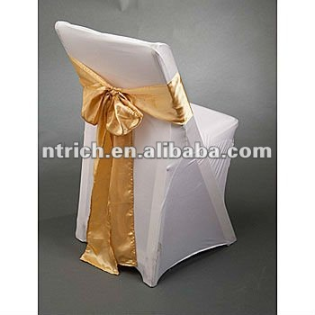 lycra spandex folding chair covers with satin sash for wedding and