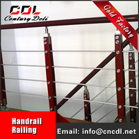 304/316 removable stainless steel Balustrade hand Railing staircase design