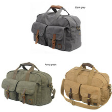 Classic dense Canvas Travel shoulder Bags/Duffel Bags/Weekend Bags for men/women