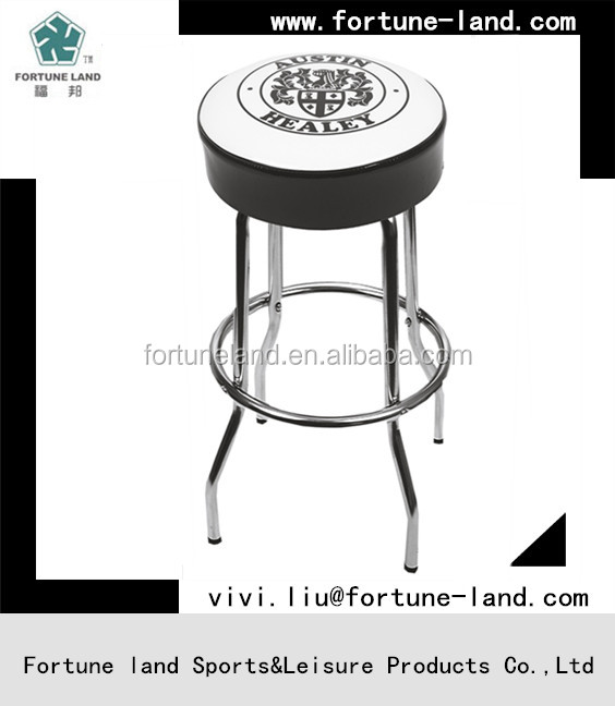 Metal bar stool with PVC cushions