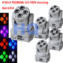 China dj lights rgbw 4x18w 6in1 beam wash mini led moving head