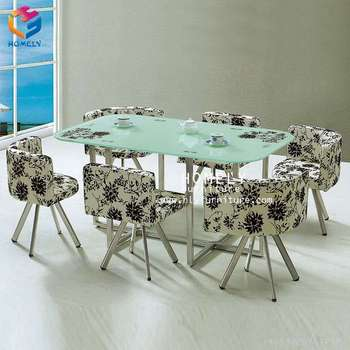 table decoration colored glass dinning table set