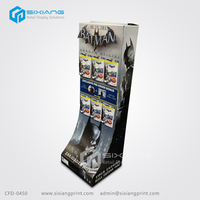 Custom Retail Supermarket Advertising Electronic Products POS Corrugated Hook Display