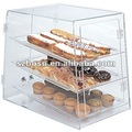 Perspex Bakery Display Case, Plexiglass Bread Display Box, Lucite Pastry Display Stand