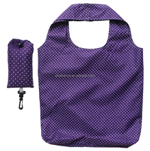 Purple Check Shape Collection Reusable Shopping Tote Grocery Bag