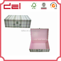 foldable a4 size cardboard packing box with handle