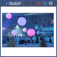 large colourful balloon, led light decoration hanging balloon, inflatable helium balloon