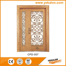 Yekalon CPD-007 Hot sale copper finish metal shed door