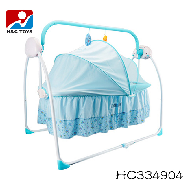 2016 New design adjustable baby electric swing bed HC334904