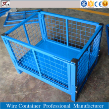 Wire mesh cage box metal bin storage container