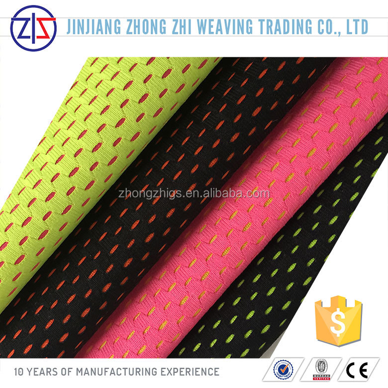 Two Tone Cheap Polyester Laminated Mesh Fabric