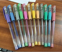 multi color Christmas gel pen with soft rubber grip
