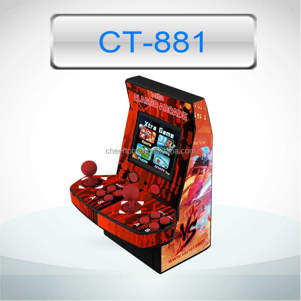 8 bit mini classical arcade games console two joysticks and TF card download supported